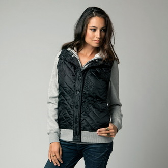 hoodie women's - Feature ZIP - FOX, FOX