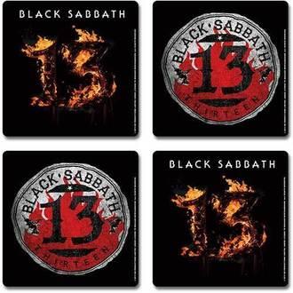 beer coasters Black Sabbath - 13 - ROCK OFF - BSCSSET02