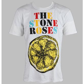 t-shirt metal men's Stone Roses - Logo Lemon Multicolour - ROCK OFF - STRTS01