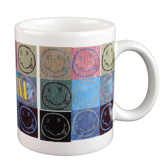 cup Nirvana - Distressed Smiley Blocks - ROCK OFF, ROCK OFF, Nirvana