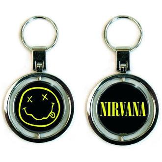 key ring (pendant) Nirvana - Smiley Spinner - ROCK OFF, ROCK OFF, Nirvana