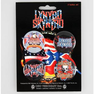 badges Lynyrd Skynyrd - CDV, C&D VISIONARY, Lynyrd Skynyrd