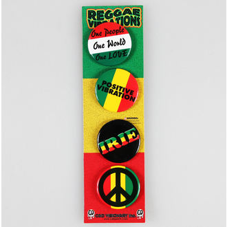 badges DSX Reggae & Rasta - Assorted, C&D VISIONARY