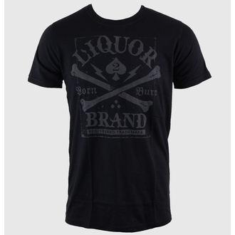 t-shirt hardcore men's - Crossbones - LIQUOR BRAND, LIQUOR BRAND
