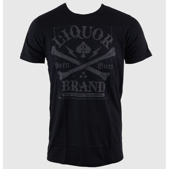 t-shirt hardcore men's - Crossbones - LIQUOR BRAND - 237