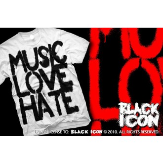 t-shirt hardcore men's - Music, Love - BLACK ICON, BLACK ICON