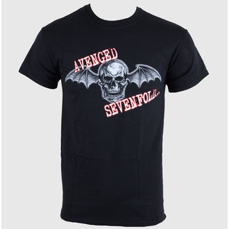 t-shirt metal men's Avenged Sevenfold - Death Bat Glow Skull - LIVE NATION, LIVE NATION, Avenged Sevenfold