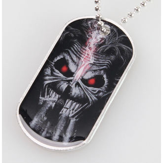 collar (dog tag) Iron Maiden - Eddie Candle Finger - RAZAMATAZ