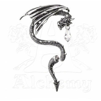 earrings ALCHEMY GOTHIC - Crystal Dragon Ear Wrap - E330