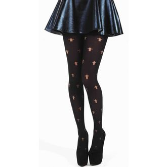 tights PAMELA MANN - Opaque Cross Tights - Black - 042