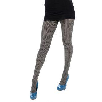tights PAMELA MANN - Opaque Mini Check Tights - Cream, PAMELA MANN