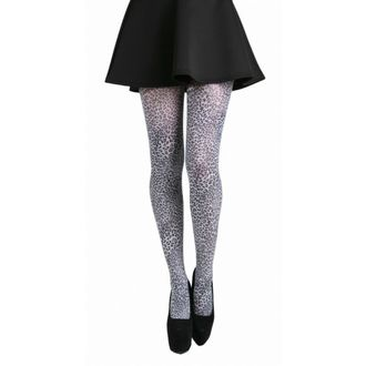 tights PAMELA MANN - Petite Leopard Tights - Black / White - 049