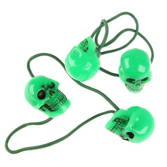 hair rubber band KREEPSVILLE SIX SIX SIX - Skull - Green, KREEPSVILLE SIX SIX SIX