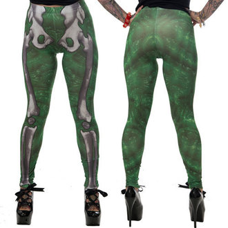 pants women (leggings) KREEPSVILLE SIX SIX SIX - Skele-Bone - Slime, KREEPSVILLE SIX SIX SIX