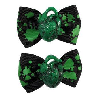 clips KREEPSVILLE SIX SIX SIX - Hair Bow Heart - Green, KREEPSVILLE SIX SIX SIX