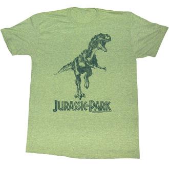 film t-shirt men's Jurassic Park - Green T-Rex - AMERICAN CLASSICS - JUR5125