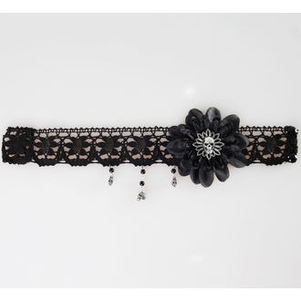 necklace ALCHEMY GOTHIC - Black Dahlia Choker, ALCHEMY GOTHIC