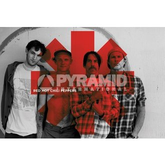 poster Red Hot Chili Peppers - Red Asterix - PYRAMID POSTERS, PYRAMID POSTERS, Red Hot Chili Peppers