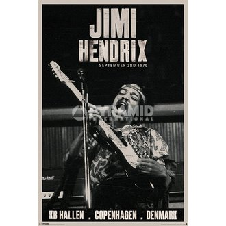 poster Jimi Hendrix - Copenhagen - PYRAMID POSTERS, PYRAMID POSTERS, Jimi Hendrix
