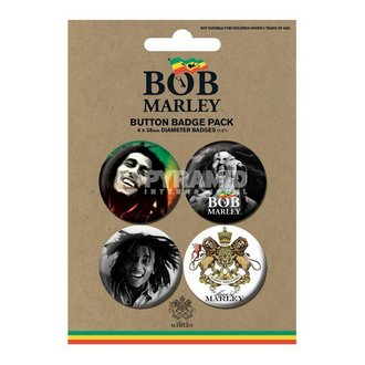 badges Bob Marley - Photo - PYRAMID POSTERS - BP80365