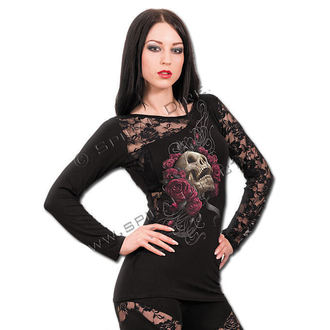 t-shirt women's - Rose Skull - SPIRAL - T081F439