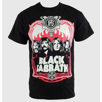 t-shirt metal men's Black Sabbath - Red Flames - BRAVADO - 34191020