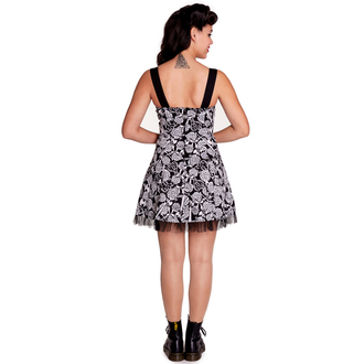 dress women HELL BUNNY - Avalon Mini - Black / white, HELL BUNNY
