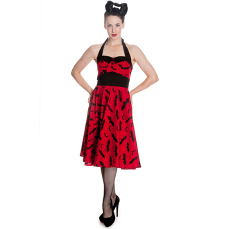dress women HELL BUNNY - Bat 50´s - Red / Black - 4290