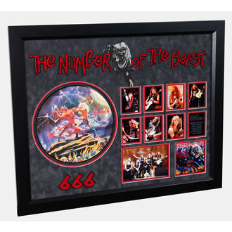 LP with signature IRON MAIDEN - Number Of The Beast, ANTIQUITIES CALIFORNIA, Iron Maiden
