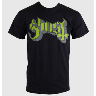t-shirt metal men's Ghost - Keyline Logo - ROCK OFF - GHOTEE02