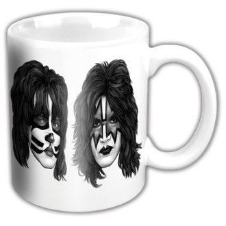cup KISS - Graphite Faces - ROCK OFF, ROCK OFF, Kiss