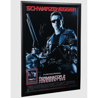 poster with signatures Terminator 2, ANTIQUITIES CALIFORNIA