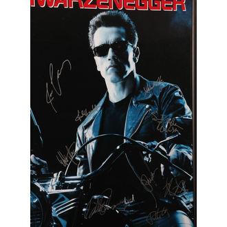 poster with signatures Terminator 2, ANTIQUITIES CALIFORNIA