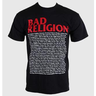 t-shirt metal men's Bad Religion - Song List - KINGS ROAD - 00384