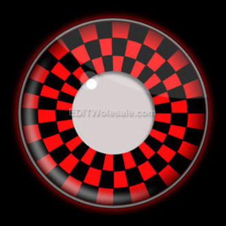 contact lenses RED AND BLACK CHECKERS UV - EDIT, EDIT