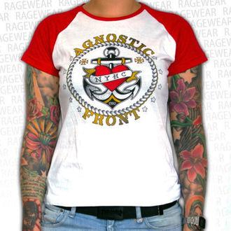 t-shirt metal women's unisex Agnostic Front - Anchor - RAGEWEAR, RAGEWEAR, Agnostic Front