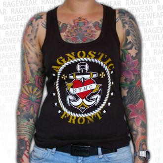 undershirt women Agnostic Front - Anchor - Black - RAGEWEAR, RAGEWEAR, Agnostic Front