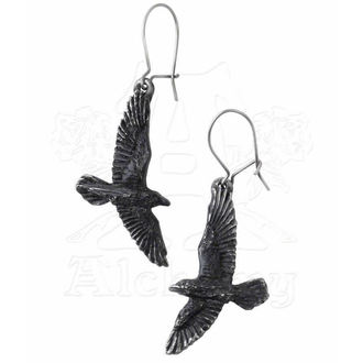 earrings Black Raven - ALCHEMY GOTHIC - E333