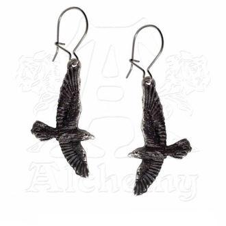 earrings Black Raven - ALCHEMY GOTHIC - E333