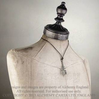 necklace Black Trinity Trident - ALCHEMY GOTHIC - P686