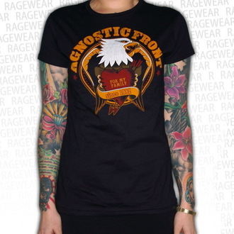 t-shirt metal women's unisex Agnostic Front - Old School Heart - RAGEWEAR, RAGEWEAR, Agnostic Front