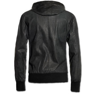 jacket men spring/autumn BRANDIT - Dean PU - Black - 3138/2