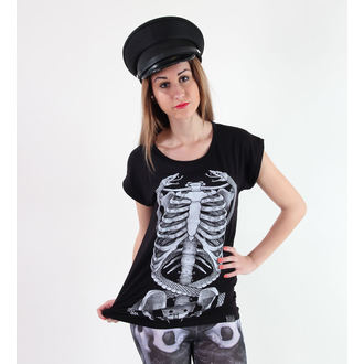 t-shirt women's unisex - Ribcage - KILLSTAR - Black