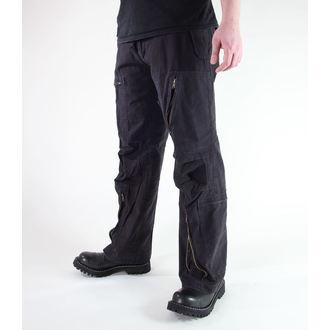 pants men MIL-TEC - Fliegerhose - Prewash Black, MIL-TEC