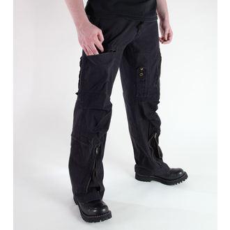 pants men MIL-TEC - Fliegerhose - Prewash Black - 11502002
