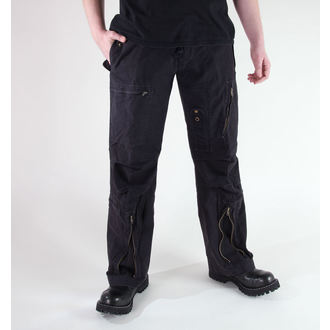 pants men MIL-TEC - Fliegerhose - Prewash Black