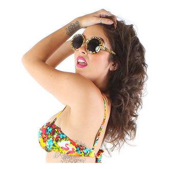 glasses sun IRON FIST - Change Your Spots - Leopard, IRON FIST