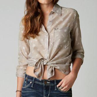 shirt women's FOX - Adlibs - Aluminum