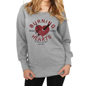 sweatshirt (no hood) women's - Burning - BLACK HEART, BLACK HEART