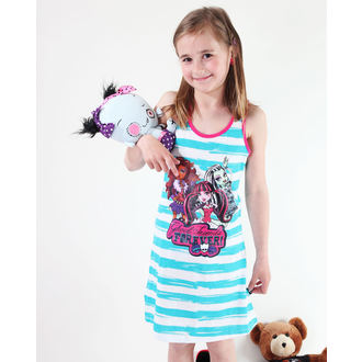 dress girlish TV MANIA Monster High - White / Turquise, TV MANIA